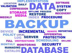 Backup WordCloud - stock illustration