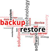 Word cloud - backup restore Stock Illustration