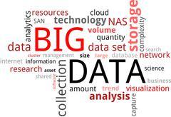 word cloud - big data - stock illustration