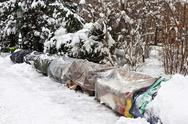 Stock Photo of Roost of homeless people in winter