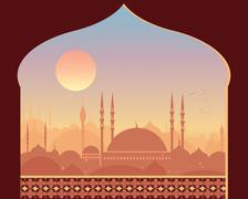 Eastern sunrise Stock Illustration