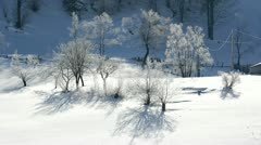 Quiet place in wintertime Stock Footage