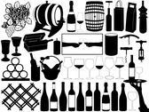 Wine Set Stock Illustration
