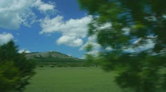 Driving along the countryside Stock Footage
