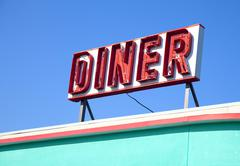 dinner sign - stock photo