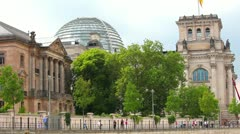 Reichstag Berlin, Germany - stock footage