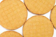 stroopkoeken, dutch caramel biscuits - stock photo