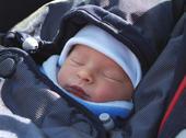 Stock Photo of sleeping newborn baby