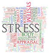 Stress wordcloud Stock Illustration