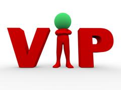 3d vip - very important person Stock Illustration