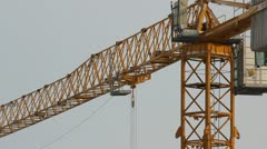 Lifting construction crane. construction site Stock Footage