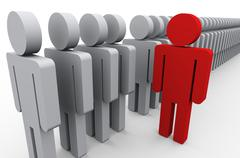 Stand out of crowd Stock Illustration