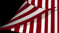 Circus curtain page curl, wipe, transition. Stock Footage