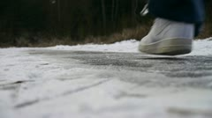 Stock Video Footage of Sliding on ice