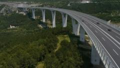 Flying over the viaduct Stock Footage