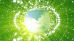 Green globe Stock Footage