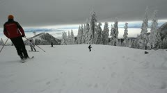 Ski in the snow Stock Footage