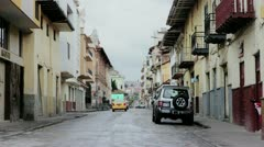 CUENCA, ECUADOR – JULY: old street in south america Stock Footage