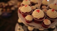 Wedding Cup Cakes Dolly In Stock Footage