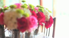 Wedding Flowers Focus Pull Stock Footage