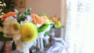 Stock Video Footage of Jan Stock Wedding Flowers Focus Pull copy