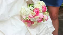 Wedding Flowers Bouquet Focus in and out - stock footage