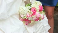 Stock Video Footage of Wedding Flowers Bouquet Focus in and out