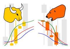Commodity, Forex trading symbol - stock illustration