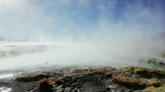 Volcano, thermal, boiled water Stock Footage