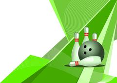 Bowling, abstract design - stock illustration