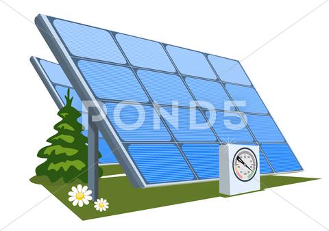 Stock Illustration of Solar panel, illustration