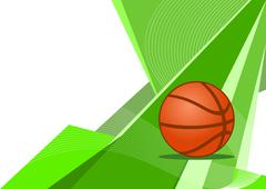 Stock Illustration of Basketball, abstract design