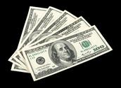 American money on black background Stock Photos