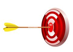 Stock Illustration of Target with arrow. Concept - success