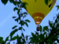 Flying Balloon in Lewiston, Maine - stock footage