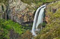 ebor river waterfall - stock photo