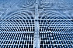 metal grid walkway - stock illustration