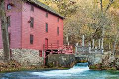 alley spring mill house - stock photo
