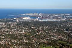 Stock Photo of wollongong city and suburbs