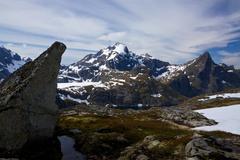 mountain peaks - stock photo
