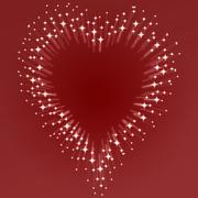 starburst heart - stock illustration