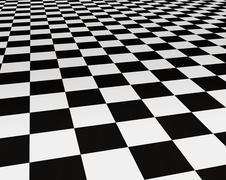Black and white tiles Stock Illustration