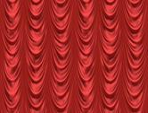 The red curtain Stock Illustration