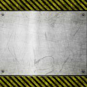 old metal hazard background - stock illustration