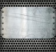 old metal background texture - stock illustration