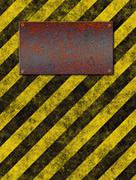 Warning sign plaque Stock Illustration