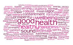 Stock Illustration of good health word or tag cloud