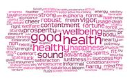 Good health word or tag cloud Stock Illustration
