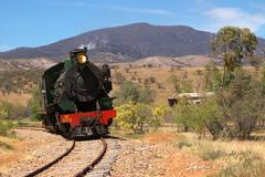 the pichi richi steam train near port augusta south australia - stock photo