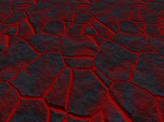 lava through the cracks - stock illustration